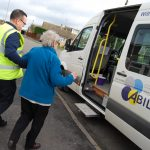 Supporting and aiding to access the Bus by trained drivers