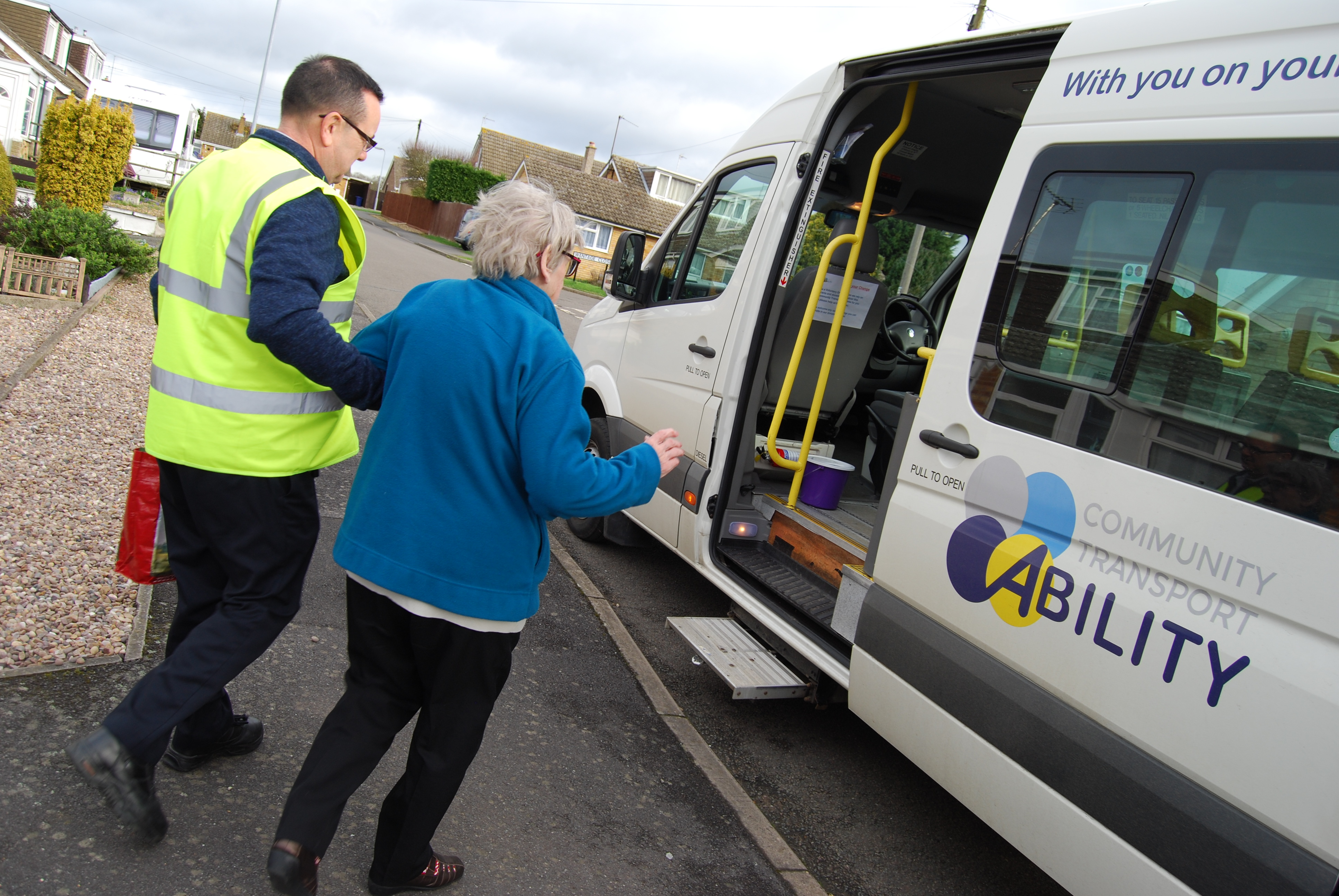 Community Transport proving assistance to the elderly