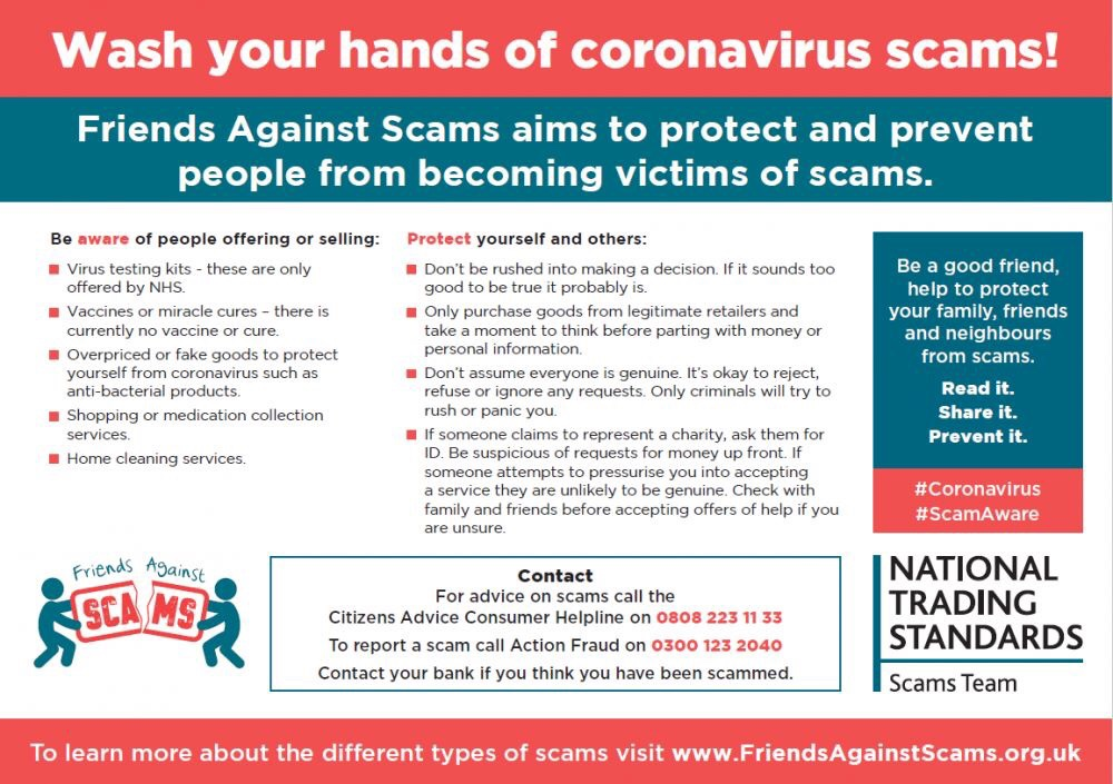 Beware of scams during COVID19